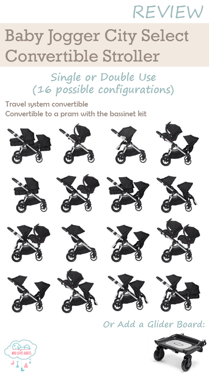 Baby Jogger City Select 16 Different Configurations