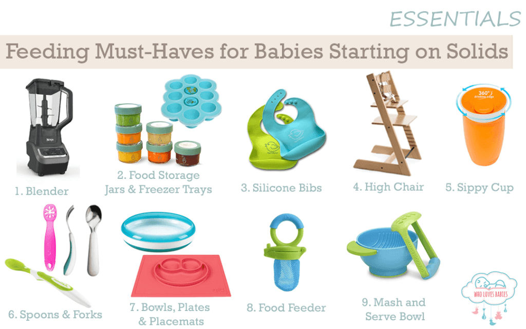Feeding Must Haves for Babies Starting on Solids
