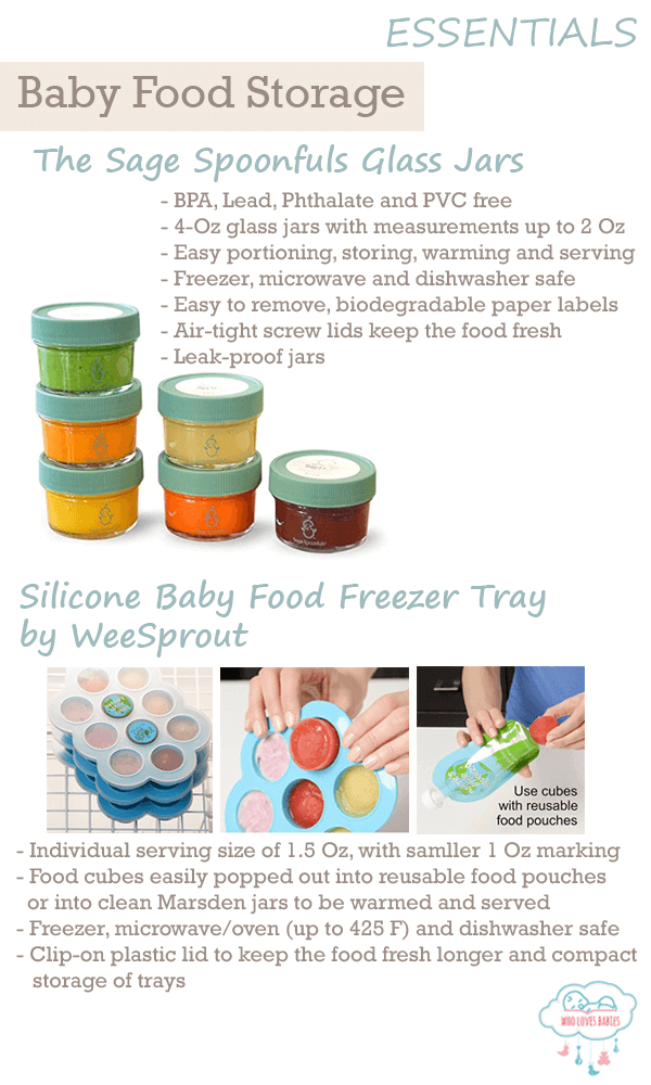 Feeding Must Haves Baby Food Storage
