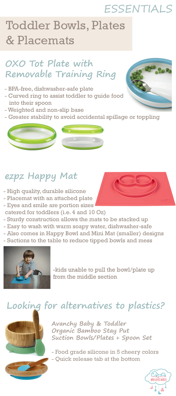 Feeding Must-Haves Bowls Plates Placemats