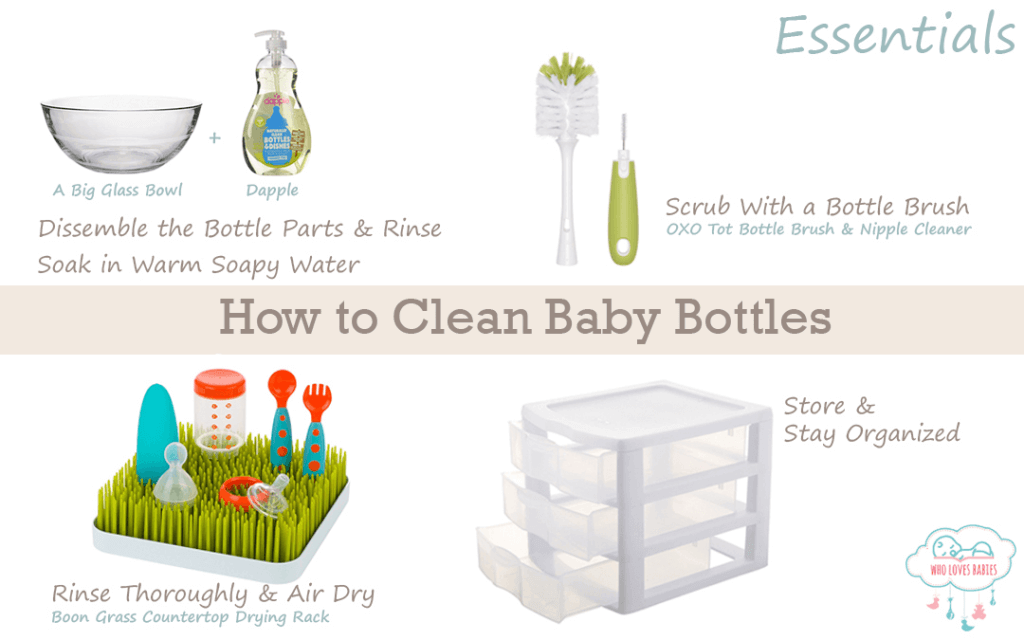 how to properly clean baby bottles