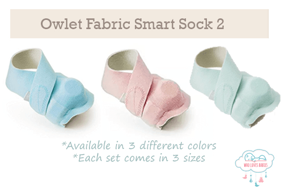 Owlet Smart Sock 2 Fabric Color Options