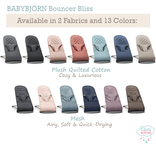 Babybjorn Bouncer Bliss Fabric and Colors