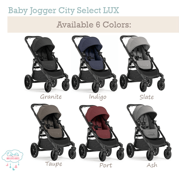 Baby Jogger City Select LUX Available in 6 Colors
