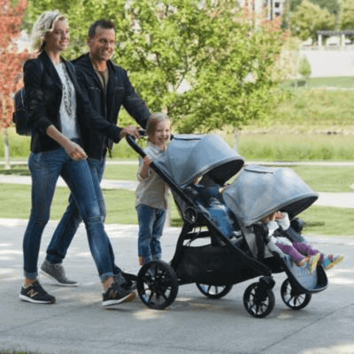 Baby Jogger City Select Triple Stroller with Glider Board