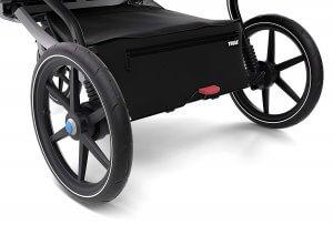 Thule urban glide 2 zippered storage basket and foot brake