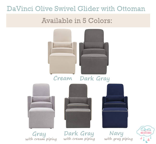 Davinci Olive Swivel Glider Color
