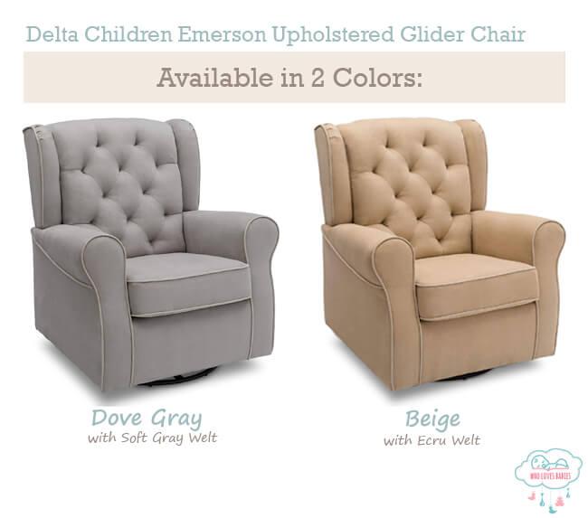 Delta Children Emerson Upholstered Glider Chair Color
