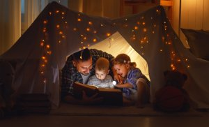 indoor camping with kids