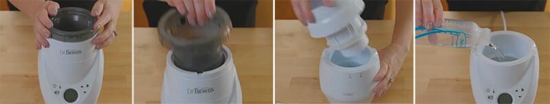 how to use dr brown milkspa breast milk warmer