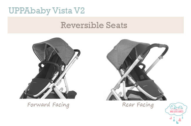 uppababy vista reversible stroller seat