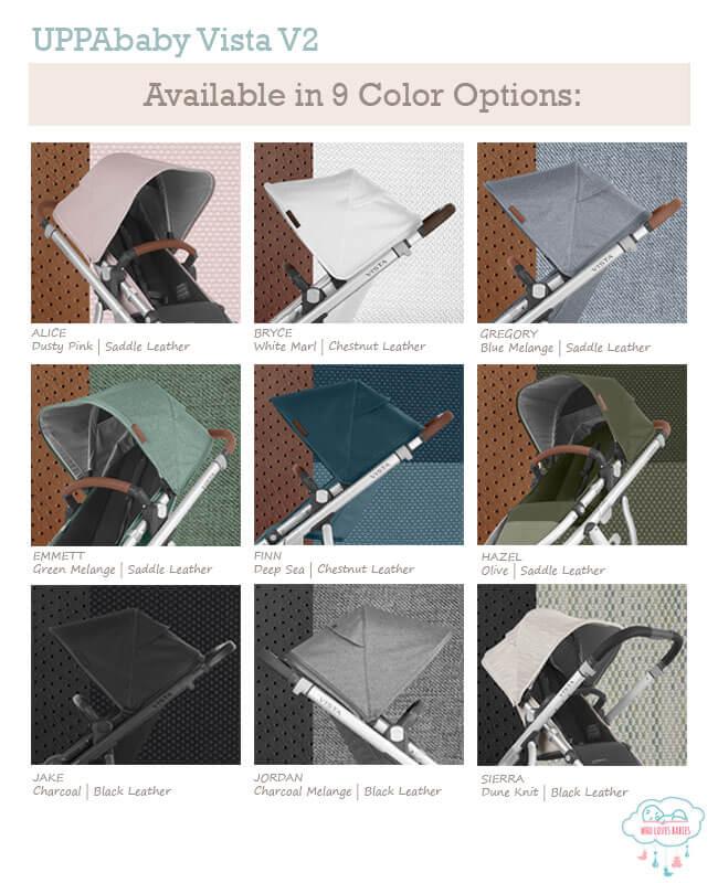 uppababy vista v2 color options